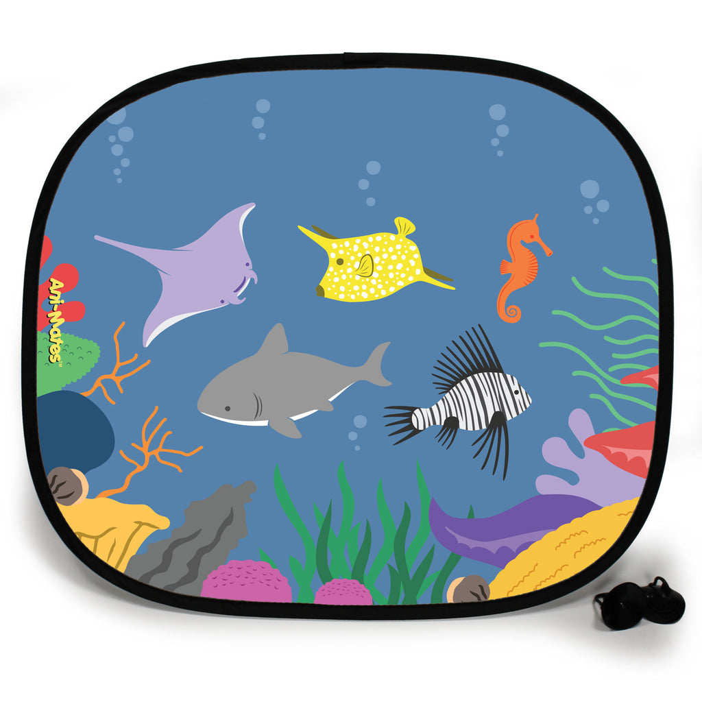 Ani-Mates Under The Sea Lion Fish Party Personalised UV Protection Fun Vehicle Interior Window Car Sunshade