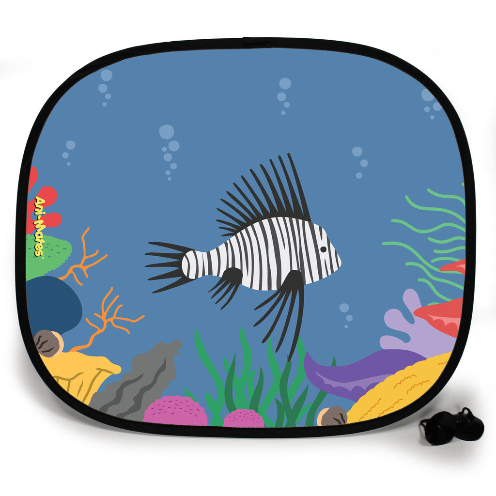 Ani-Mates Under The Sea Lion Fish Personalised UV Protection Fun Vehicle Interior Window Car Sunshade