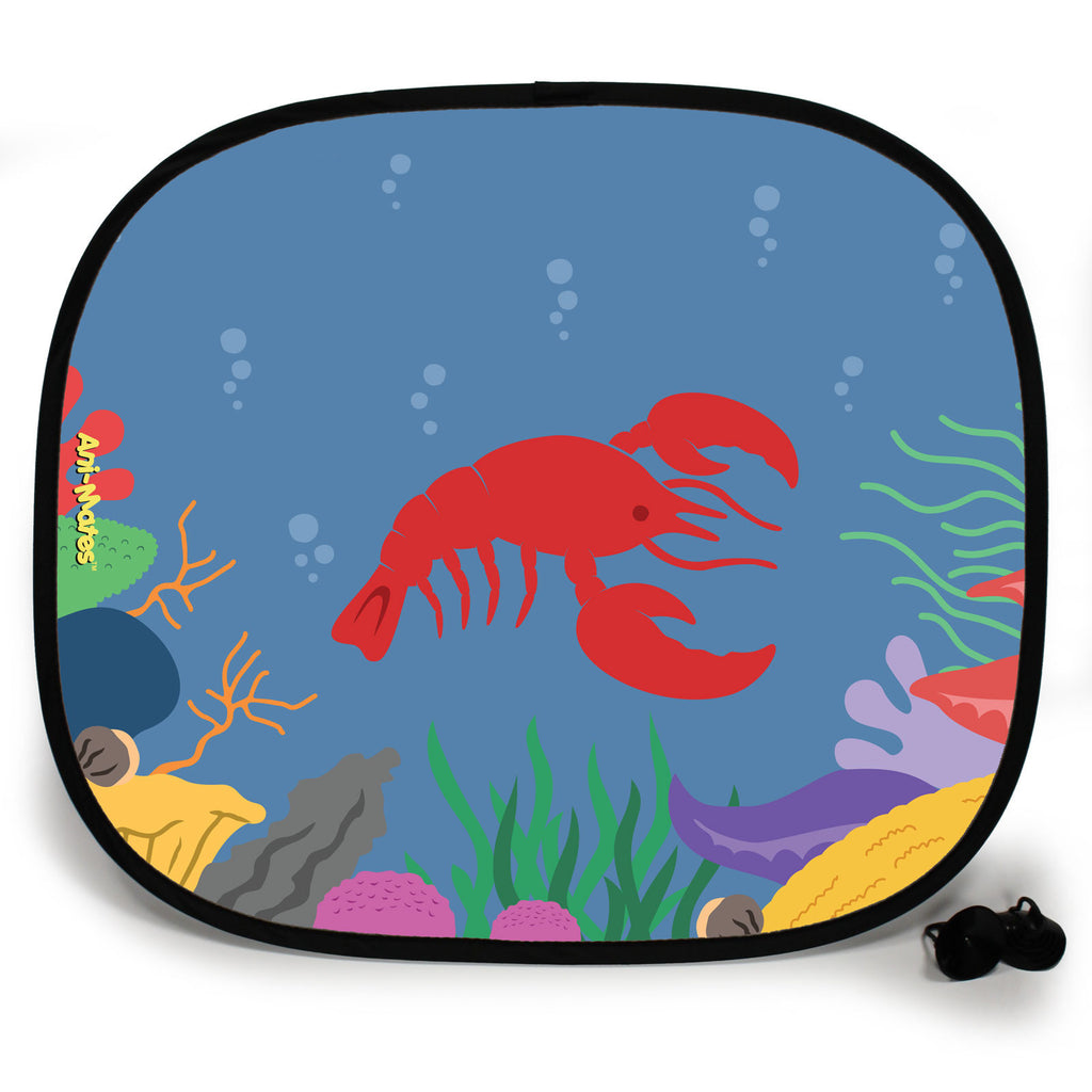 Ani-Mates Under The Sea Lobster Personalised UV Protection Fun Vehicle Interior Window Car Sunshade