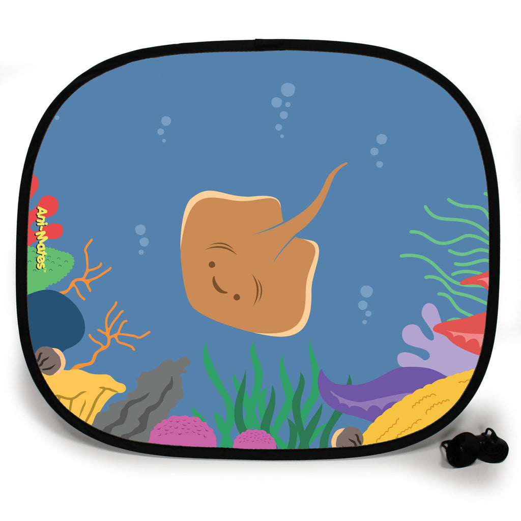 Ani-Mates Under The Sea Stingray Personalised UV Protection Fun Vehicle Interior Window Car Sunshade