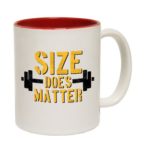 SWPS Size Does Matter Funny Gym Mug