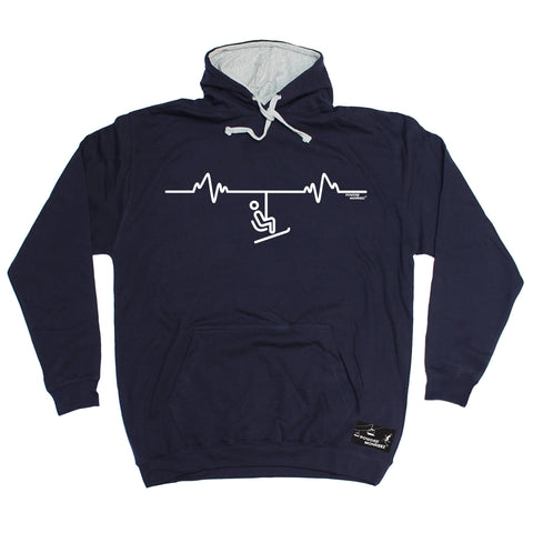 Powder Monkeez Ski Lift Pulse Skiing Hoodie