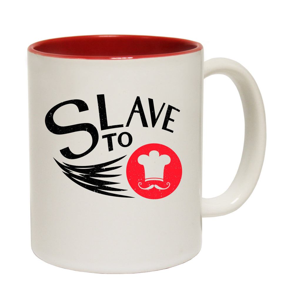 123t Slave To Chef Funny Mug