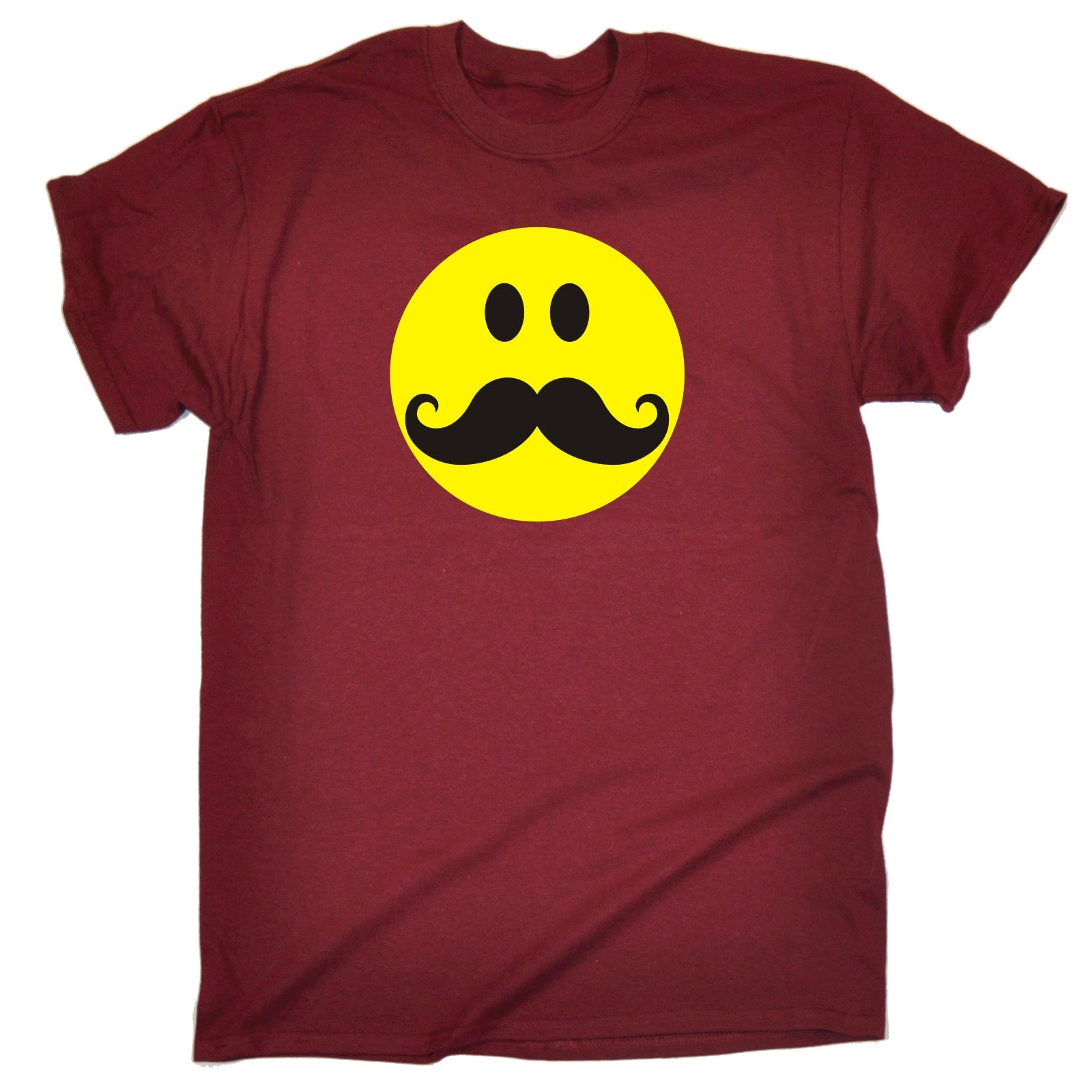 smiley face moustache t shirt dance rave party dj humour. Black Bedroom Furniture Sets. Home Design Ideas