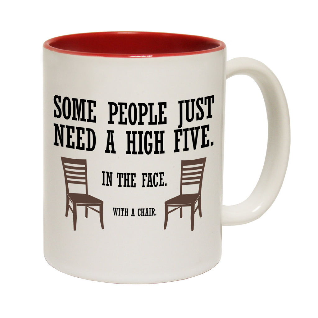123t Some People Just Need A High Five Funny Mug