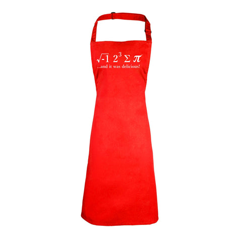 123t I Ate Sum Pi And It Was Delicious Funny Apron