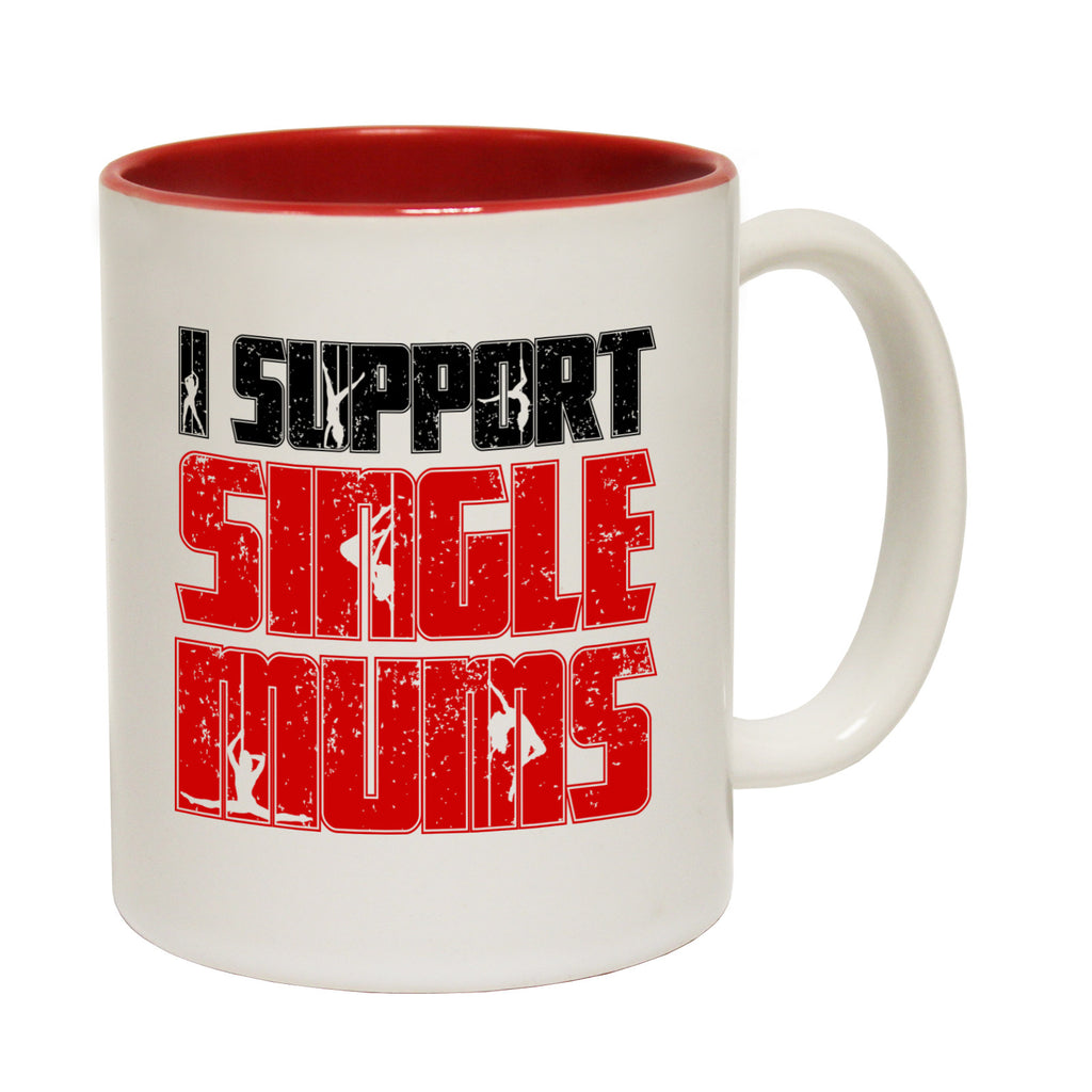 123t I Support Single Mums Funny Mug - 123t clothing gifts presents