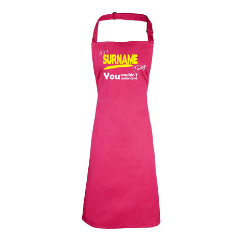 123t Custom Surname Thing You Wouldn't Understand Funny Apron - 123t clothing gifts presents