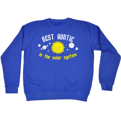 123t Best Auntie In The Solar System - SWEATSHIRT
