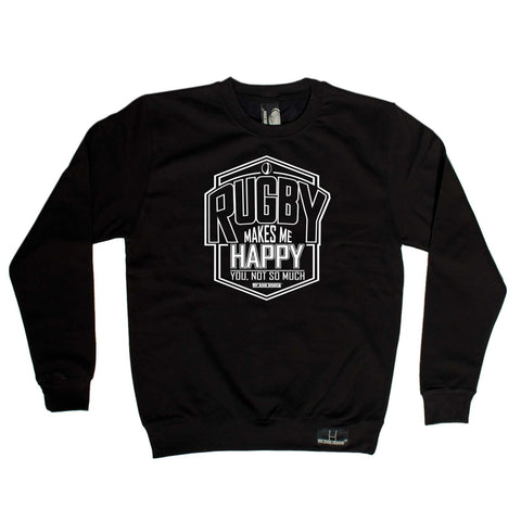 Up and Under - Rugby Makes Me Happy - Rugby SWEATSHIRT