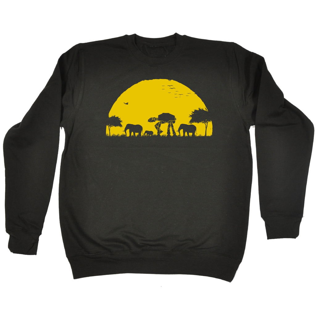 123t ATAT Sunset Design Funny Sweatshirt, 123t