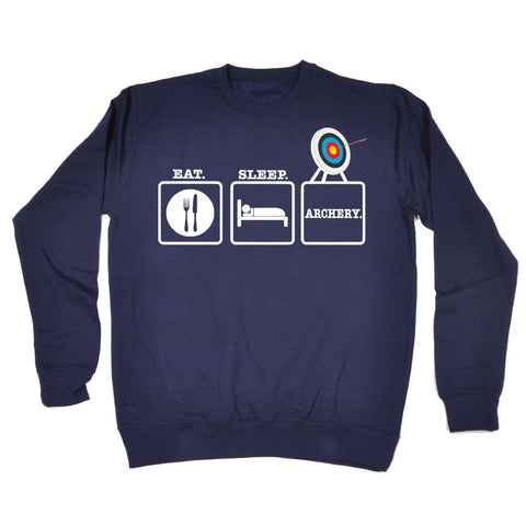 123t - Eat Sleep Archery - SWEATSHIRT