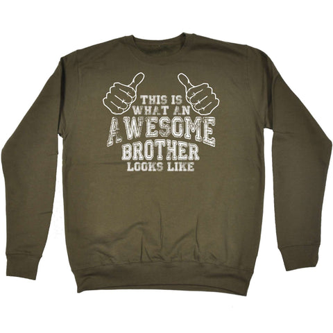 123t - Awesome Brother Looks Like -  SWEATSHIRT