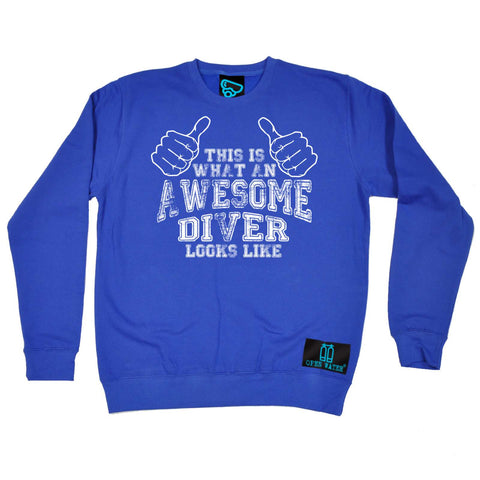 Open Water - What An Awesome Diver Loos Like - Sailing SWEATSHIRT