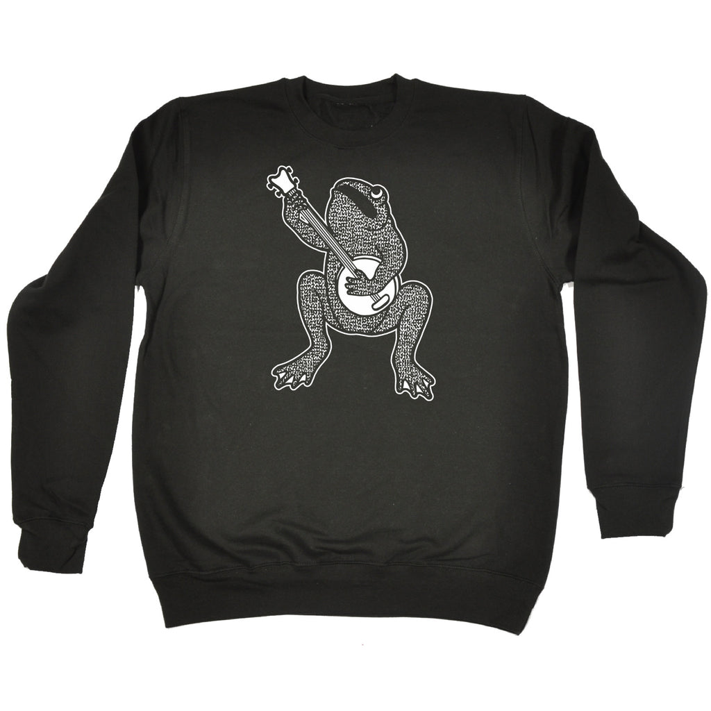 123t Banjo Playing Toad Funny Sweatshirt
