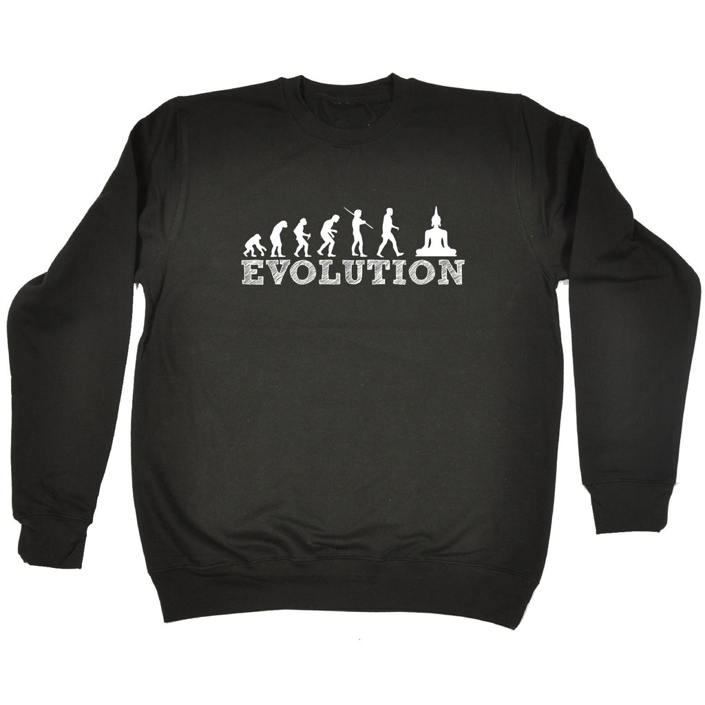 123t Evolution Buddha Funny Sweatshirt