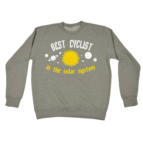 123t Best Cyclist In The Solar System Galaxy Design Funny Sweatshirt