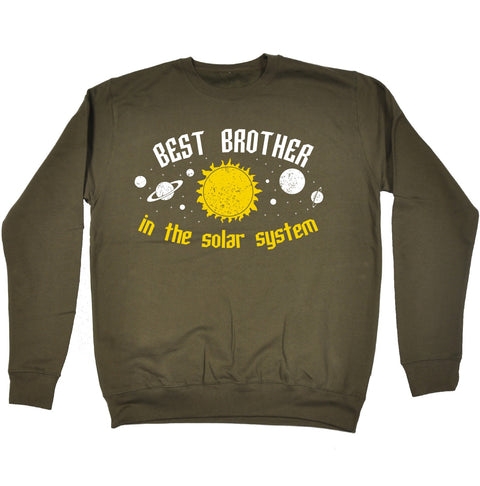 123t Best Brother In The Solar System Galaxy Design Funny Sweatshirt