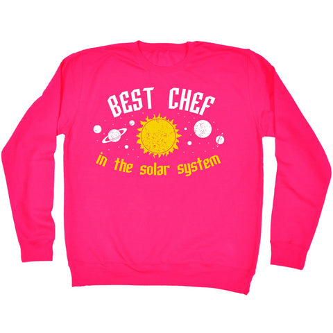 123t Best Chef In The Solar System Galaxy Design Funny Sweatshirt