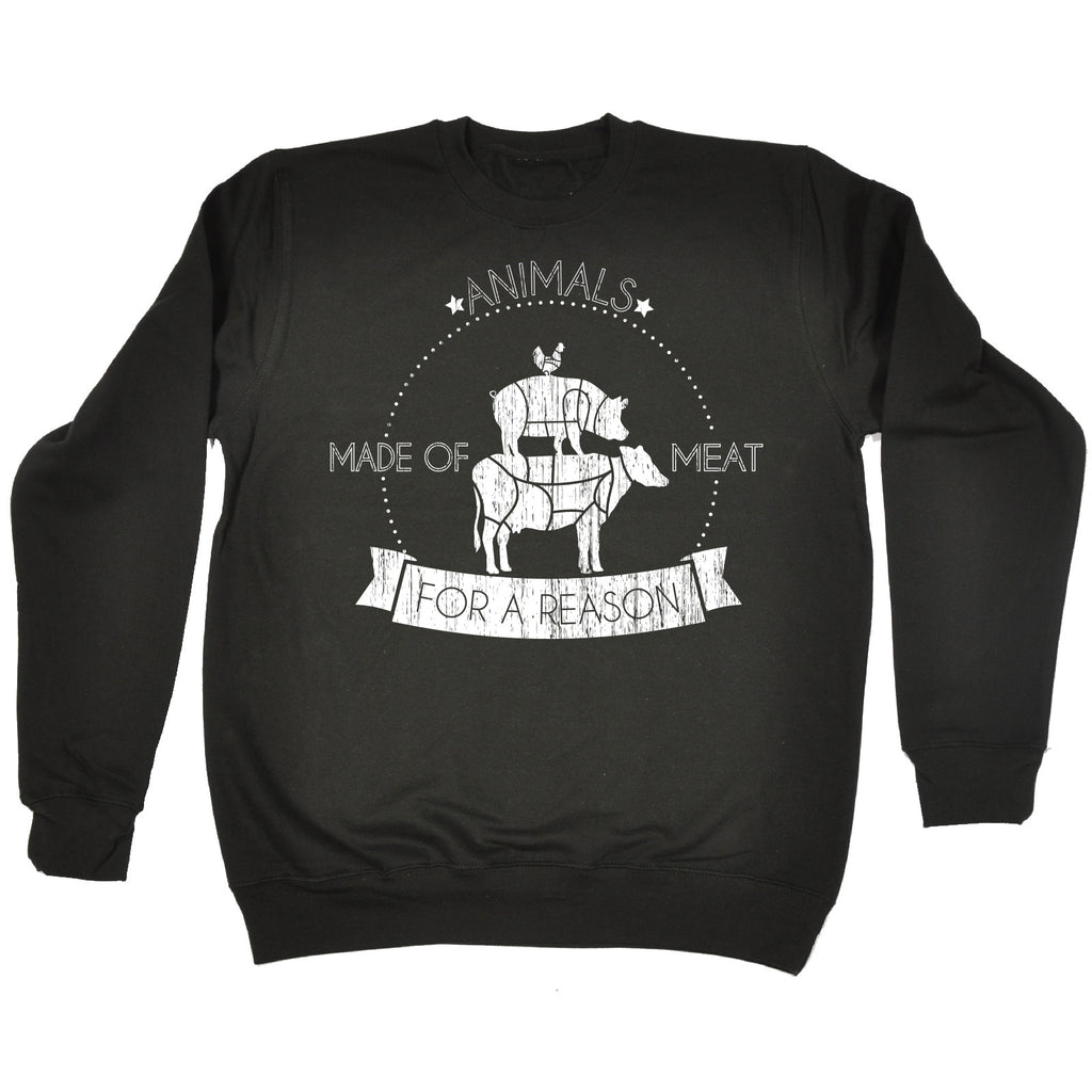 123t Animals Made Of Meat For A Reason Funny Sweatshirt, 123t