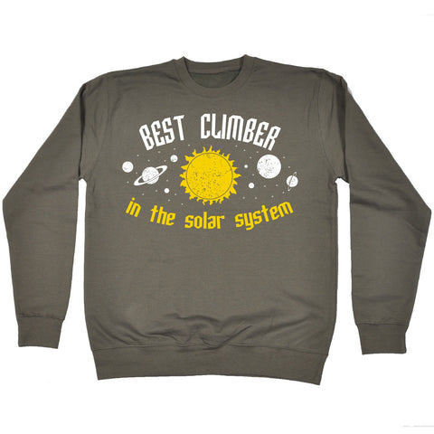 123t Best Climber In The Solar System Galaxy Design Funny Sweatshirt