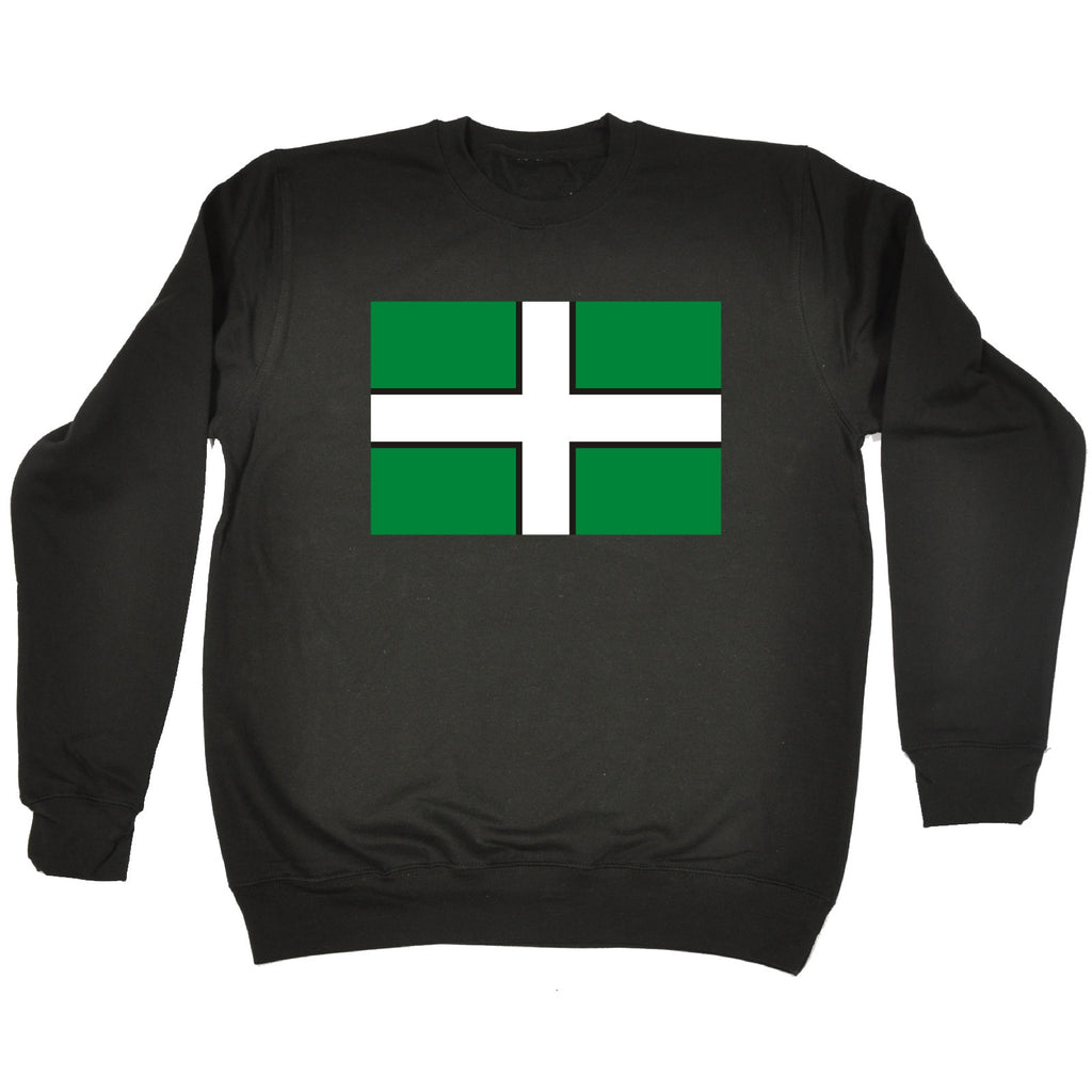 123t Devon Flag Design Funny Sweatshirt