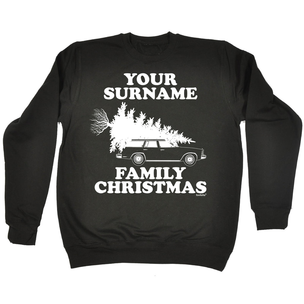 123t Your Personalised Surname Family Christmas Design Funny Sweatshirt