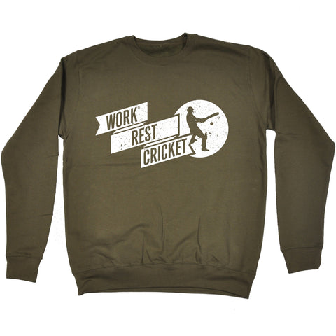 123t Work Rest Cricket Funny Sweatshirt