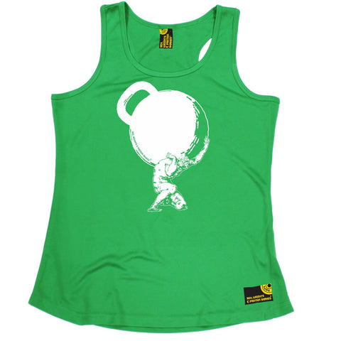 SWPS Greek God Atlas Kettlebell Sex Weights And Protein Shakes Gym Girlie Training Vest
