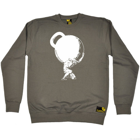 SWPS Greek God Atlas Kettlebell Sex Weights And Protein Shakes Gym Sweatshirt