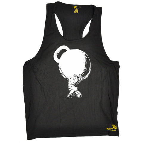 SWPS Greek God Atlas Kettlebell Sex Weights And Protein Shakes Gym Men's Tank Top