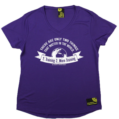 Women's SWPS - Only Thing That Matters Training - Dry Fit Breathable Sports V-Neck T-SHIRT