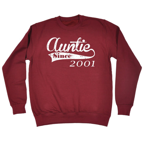 123t Auntie Since ... Any Year Funny Sweatshirt, 123t