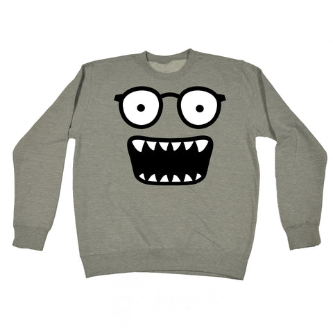123t Glasses Monster Funny Sweatshirt