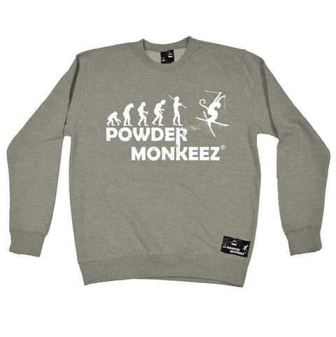 Powder Monkeez Evolution Powder Monkeez Skiing Snowboarding Sweatshirt