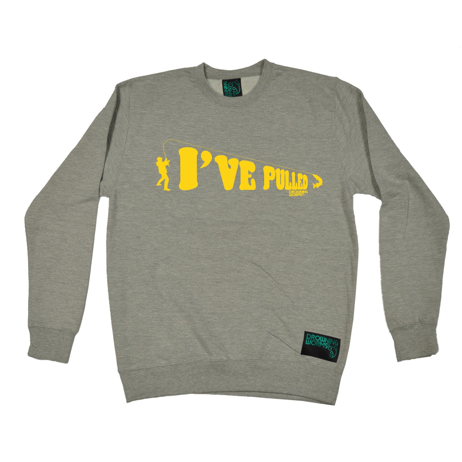 I-039-ve-Pulled-Drowning-Worms-SWEATSHIRT-jumper-Christmas-gift-gear-funny-fish