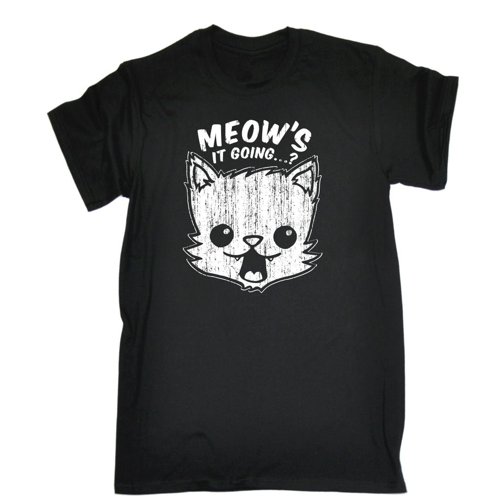 123t Men's Meow's It Going ? Cat Design Funny T-Shirt