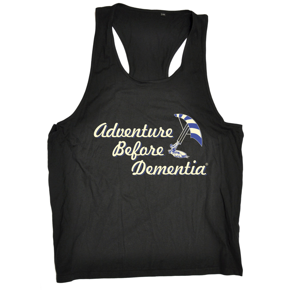 123t Adventure Before Dementia Kitesurf Graphic Design Funny Men's Tank Top - 123t clothing gifts presents