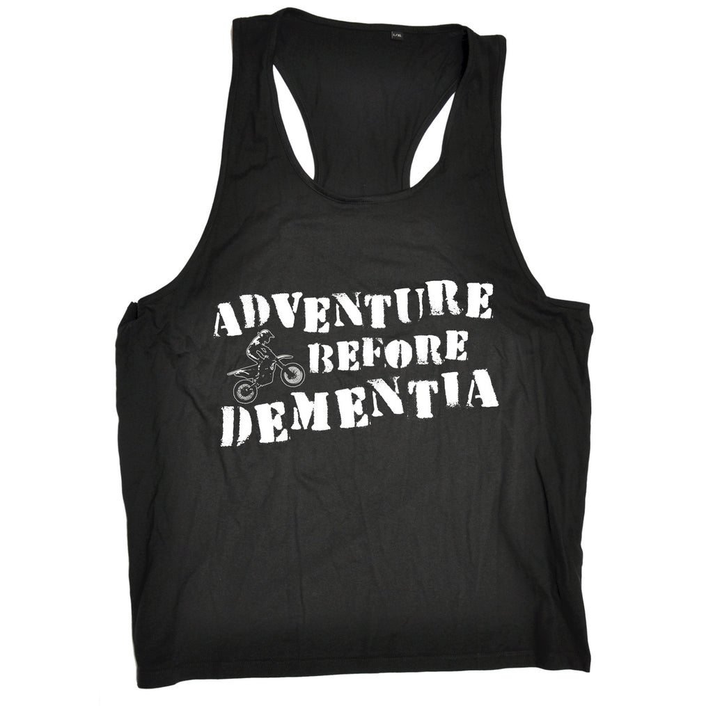 123t Adventure Before Dementia Dirt Bike Funny Men's Tank Top - 123t clothing gifts presents