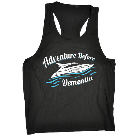 Ocean Bound Adventure Before Dementia Speedboat Sailing Men's Tank Top