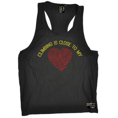 Adrenaline Addict Climbing Is Close To My Heart Rock Climbing Men's Tank Top