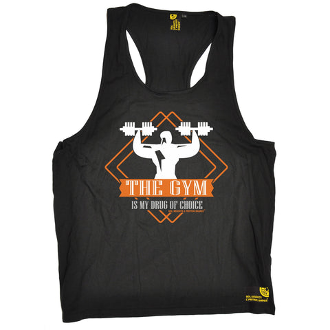 SWPS The Gym Is My Drug Of Choice Sex Weights And Protein Shakes Men's Tank Top