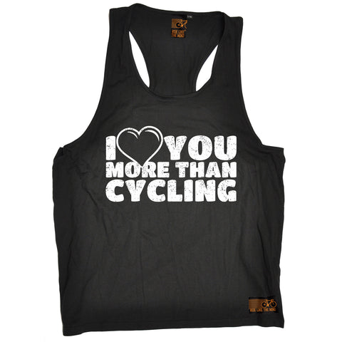 Ride Like The Wind I Love You More Than Cycling Men's Tank Top