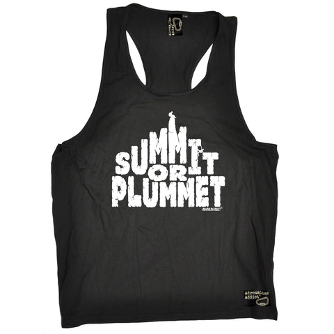 Adrenaline Addict Summit Or Plummet Rock Climbing Men's Tank Top