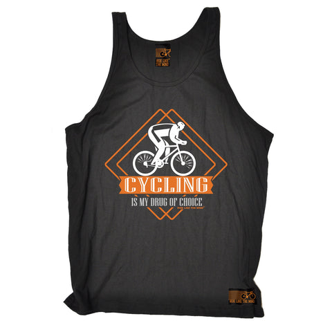 Ride Like The Wind Cycling Is My Drug Of Choice Vest Top
