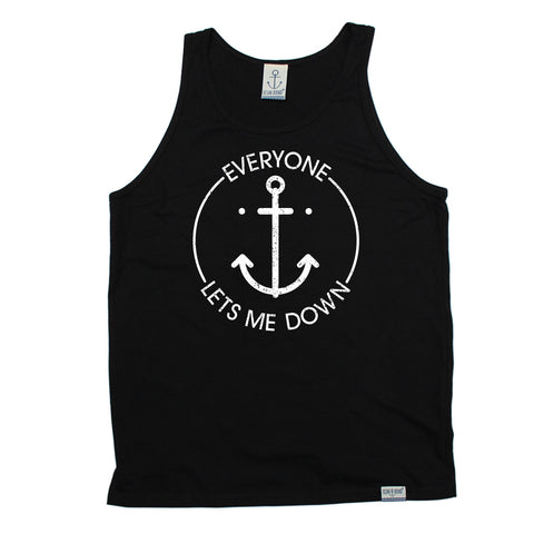 Ocean Bound Everyone Lets Me Down Anchor Design Sailing Vest Top