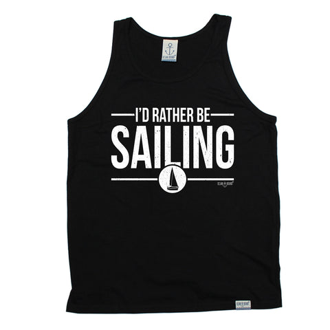Ocean Bound I'd Rather Be Sailing Vest Top