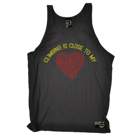 Adrenaline Addict Climbing Is Close To My Heart Rock Climbing Vest Top