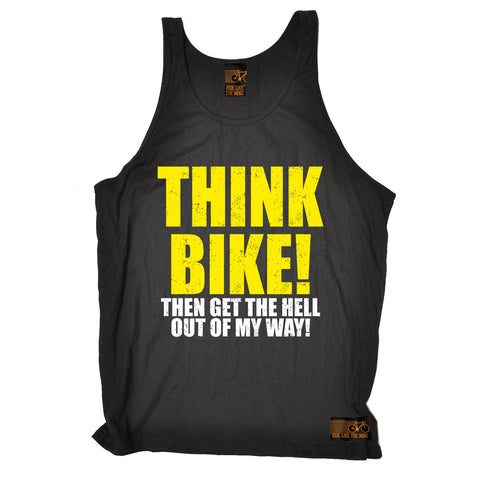 Ride Like The Wind Think Bike ... Out Of My Way Cycling Vest Top