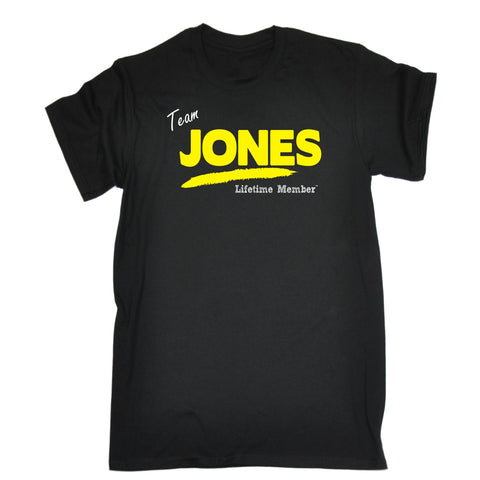 123t Men's Team Jones Lifetime Member Funny T-Shirt